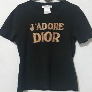 JADORE DIOR vintage suede spellout 100% AUTHENTIC